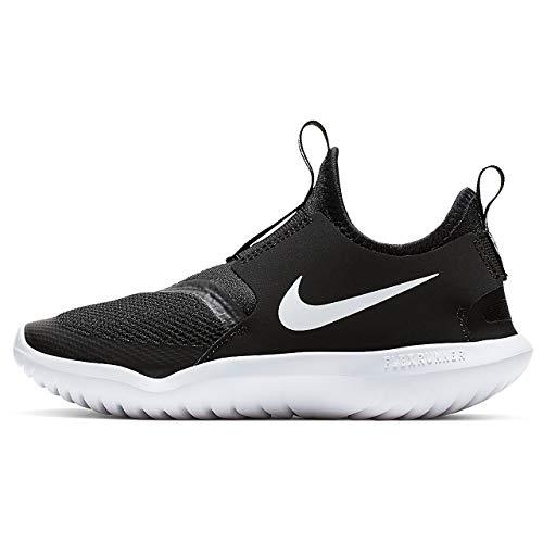 Nike Boy's, Flex Runner Sneaker - Little Kid Black/White 1.5 M