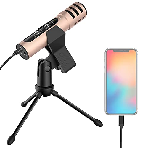 LESYAFEL Recording Microphone for iPhone,Android,PS4,Mac and Windows Plug&Play,for...