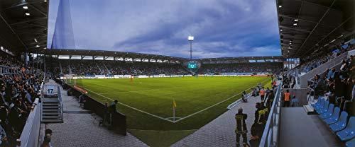 Chemnitz Stadion 2016 Eckfahne Panorama – Poster 240 x 100 cm – hochwertiger FineArtPrint