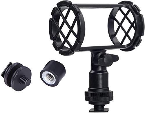 Nicama NC4 Clip de soporte universal para micrófono con montaje de zapata caliente para micrófono de escopeta AKG D230 Sennheiser MKH-416 ME66 Rode NTG-2 NTG-1 Audio-Technica AT-875R