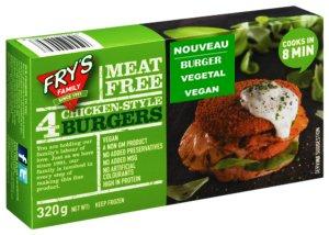 Steaks Burgers de poulet Végétale VEGAN Chicken style Burgers 320g x 10 Boites