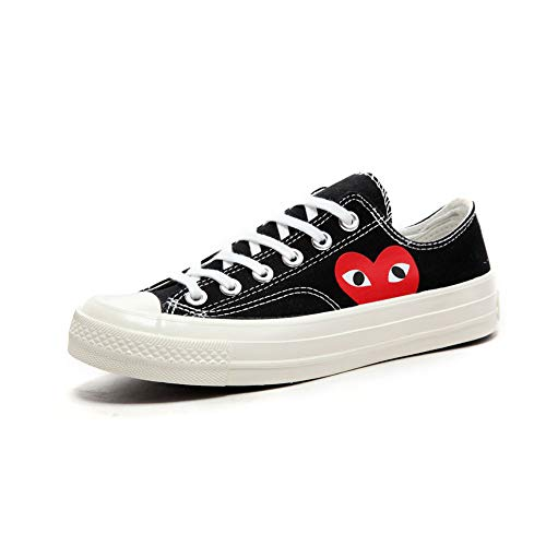 Adult\'s Replica Canvas Shoes Joint Name CDG Play Heart Low-Top Sneaker for Men/Women