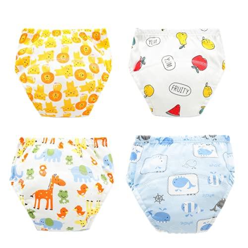 ZOEYEG Baby-Training Pants Öko-Baumwolle Windel-Baby-Tuch-Windel-Learning Hosen Breathable Training Pants