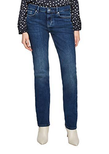 s.Oliver Damen Regular Fit: Straight Leg-Jeans Dark Blue 46.30