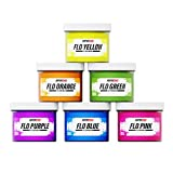 Rapid Cure Fluorescent Plastisol Ink Kit for Screen Printing T-Shirts & Fabric (Rapid Cure Fluorescent Plastisol Ink Kit)
