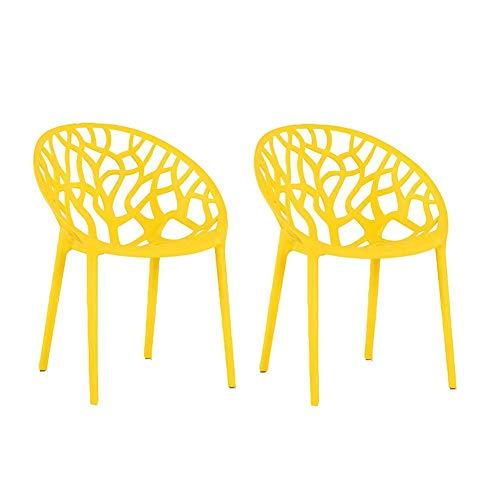 HFJKD Stühle Modern Dining Chair stapelbarer Armless Beistellstühle Plastikstühle Kunststoff Antirutschmatte Gastronomiebedarf
