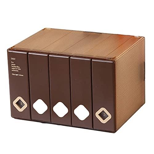 Cd Dvd-rekken Cd-opbergdoos Dvd-houder 120 cd-schijfdoos Kast Cd-pakketboek Klein formaat Grote capaciteit (kleur: wit)