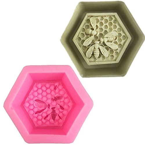 RTYY DIY Miel Abeja Forma de Panal Gel de sílice Molde de azúcar Herramienta de decoración de Pasteles Fudge Herramienta de Postre de Chocolate Productos para Hornear de Cocina