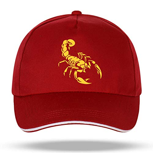 N/A Baseball Kappe Neue Männer Frauen Mode Scorpion Baseball Caps für Hip Hop Baumwolle Klettverschluss Trucker Cap Bone Dad Hüte