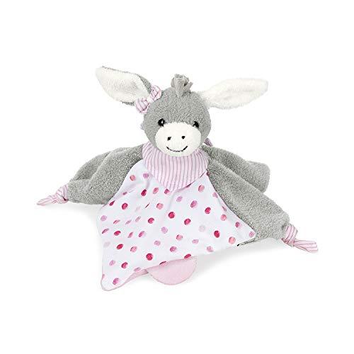 Sterntaler Schmusetuch Emmi Girl, Alter: Für Babys ab dem 1. Monat, Größe: 26 cm, Farbe: Grau/Pink