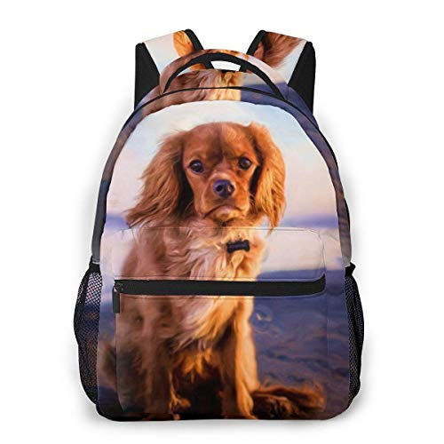 shenguang Dog Painting Print Custom Unique Casual Backpack School Bag Travel Daypack Gift