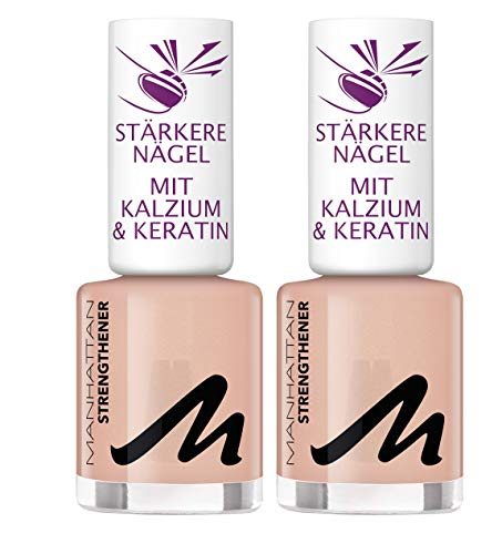 Manhattan Last und Shine Nail Strenghtener, Nr. 000, 2er Pack (2 X 12 ml)