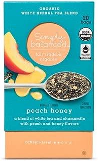 Simply Balanced Organic Herbal Tea Peach Honey 1.27OZ- 20 bags (One Pack)