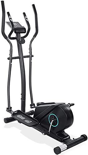 KILLM Appartamento Bici Bici Magnetico Ellittica Cross Trainer per la Casa con Sensore di Impulsi, 8 Livelli di Resistenza, LCD