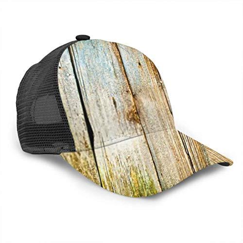 DUKAI Baseball Cap Männer Frauen, Nahaufnahme Alte Holzplanken Textur Hintergrund Verstellbare Trucker Mesh Sommer belüftete Baseball Sun Cap Hut Kappe Für Frauen