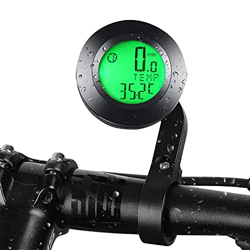 Cuentakilómetros Bicicleta Inalambrico,Velocímetro de Bicicleta de Retroiluminación,Velocímetro Bicicleta Inalámbrico,Velocímetro Inalámbrico,Ordenador de Bicicleta...