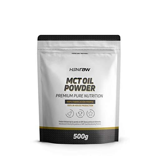 Aceite MCT en Polvo de HSN | Triglicéridos de Cadena Media procedentes del Coco, Ideal para la Dieta Keto, Fuente de Energía | Vegano, Sin Gluten, Sin Lactosa, 500 gr