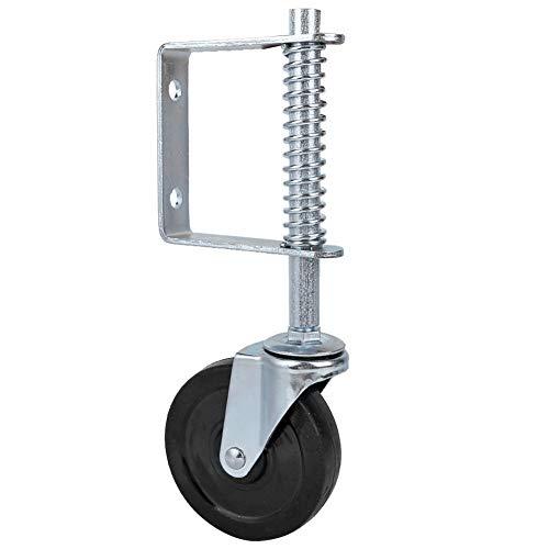 Rueda para puerta Rueda para puerta con resorte Rueda giratoria con resorte Absorción de impactos para puerta de granja para puerta de madera