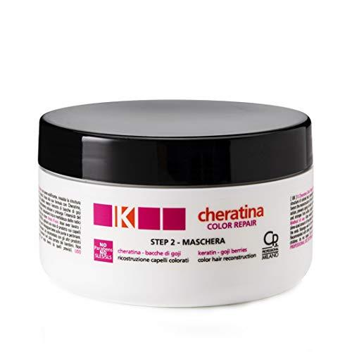 K-Cheratina - Color Repair Maschera con Cheratina - Ricostruzione a Base di Cheratina per Capelli Colorati e Decolorati - Formula Arricchita con Estratto di Bacche di Goji - Step 2 - Flacone da 300 ml