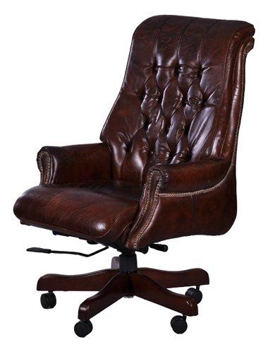 Bürosessel Belford Vintage-Cigar Büro Stuhl Drehstuhl