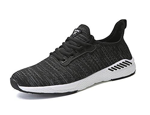 ZanYeing Unisex Bequem Schnürer Gym Fitness Atmungsaktives Mesh Turnschuhe Freizeitschuhe Ultra-Light Sportschuhe Laufschuhe,Schwarz2,41 EU