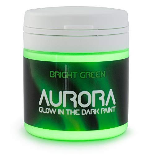 Im Dunkeln leuchtende Farbe (50ml) Aurora hellgrün, ungiftig, auf Wasserbasis, von SpaceBeams