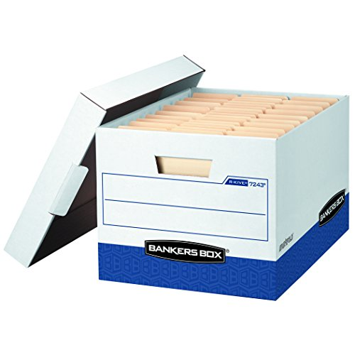 Bankers Box R-Kive Heavy-Duty Storage Boxes FastFold Lift-Off Lid LetterLegal Value Pack of 20 0724314
