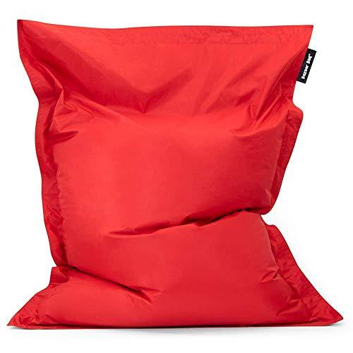 Bazaar Bag - Giant Bean Bag Chair, 180cm x 140cm, Large Indoor Living Room Gamer Bean Bags, Outdoor Water Resistant Garden Floor Cushion Lounger (Red)