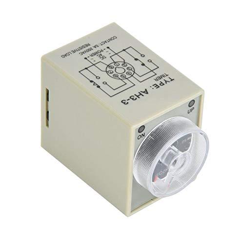 30S 8 Pines Perilla de Ajuste de Tiempo Transparente Relé de Tiempo de Temporizador de retardo de Carril DIN de 35 mm para Sistema de automatización Industrial(AC220V, Pink)