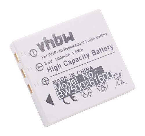 vhbw batteria compatibile con Fuji/Fujifilm FinePix F710, F610, F810, F818, J50, V10, Z1, Z2, Z3 fotocamera digitale DSLR (500mAh, 3,6V, Li-Ion)