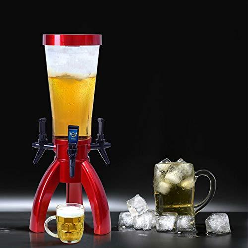 Bierzapfanlage, Dreieck Wein Pistole Bier Kanone, Hotel/Bar/KTV Bierturm, Nach Hause Schwarztee Fass, Restaurant Teegetränk Utensilien,Rot