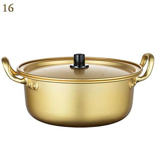 RJJX Home Corea del Non-Stick Oro Pot della minestra in Lega di Alluminio Latte Pot Pentola Fornello Insalata istantaneo Noodle Bowl Cucina d'14-20cm (Color : 16cm)