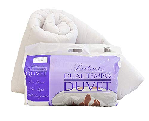 His and Hers Dual Tempo, Partners Duvet Quilt - 9 & 4.5 Tog - KING SIZE - Made in the UK