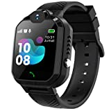 Kids Smart Watch for Boys - Smart Watch for Kids with Call | 8 Games | SOS | Camera | Music Player | Alarm Clock | Calculator | Album & Video | Recording | for 4-12 Years Boys Birthday Gifts (Black)