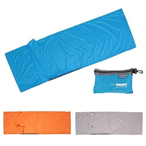 HWGQL Schlafsack 70 * 210CM Schlafsack im Freien Spielraum Camping Einzel-Schlafsack-Liner mit Pillowcase Polyester-Rohseide-Schlafsack (Color : White)