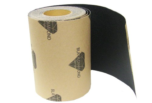 Skateboard Longboard Grip Tape ROLL 12 in x 60' Black Griptape Deck Decks