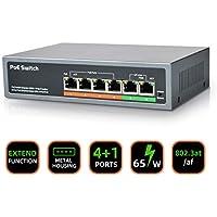 Hornbill 6 Port 65W PoE Switch (4 PoE+ Ports | 2 Uplink Port)