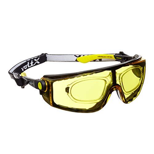 voltX 'QUAD' 4 in 1 (AMARILLO dioptría +2.5) Lectura Segura Gafas de Lectura de Seguridad con Lentes de Aumento Completos - con inserción de espuma y diadema - certificación CE EN166f
