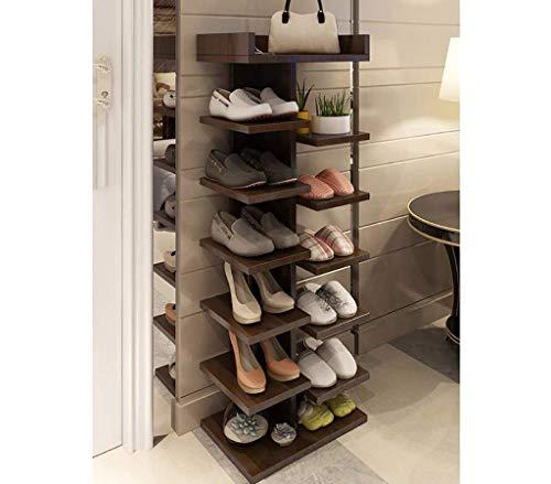 CENPEN Home Simple Schuhregal, mehrschichtig, multifunktional, Massivholz, Schuhschrank, Badezimmertür, Staub-Schuhregal