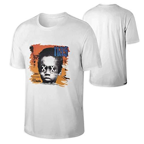 AYYUCY Camisetas y Tops Hombre Polos y Camisas NAS Illmatic Man'S Classic Bonus Neck T-Shirt Black