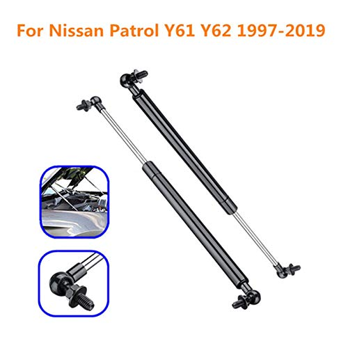 MYDH Amortiguadores de Gas para Nissan Patrol Y61 Y62 1997-2019 Coches Front Bonnet Hood Lift Supports Struts Strut Struts Barras Barras