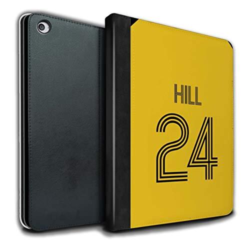 Personalisiert Individuell Fußball Vereine Trikots Kit PU-Leder Hülle für Apple iPad Air 2 / Gelb Schwarz Design/Initiale/Name/Text Tablet Schutzhülle/Tasche/Etui