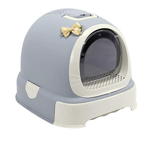 Caja de Arena para Gatos a Prueba de Polvo Caja de Arena para Gatos y Mascotas Robusto plástico Adjunto Sin Olor Durable Easy Clean Fácil Montaje Simplemente Limpia Reutilizable