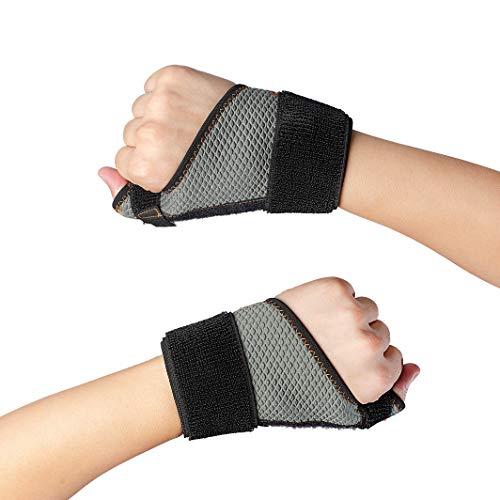 親指サポーター Cudon 指用サポーター 通気性 ばね指 腱鞘炎 突き指 手首固定 関節症 捻挫 親指付け根の骨折 脱臼 など 左手 L