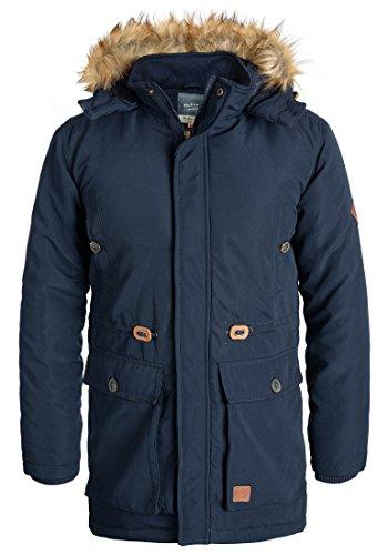 Blend Polygro Herren Winter Jacke Parka Mantel Lange Winterjacke gefüttert mit Kapuze, Größe:XL, Farbe:Navy (70230)