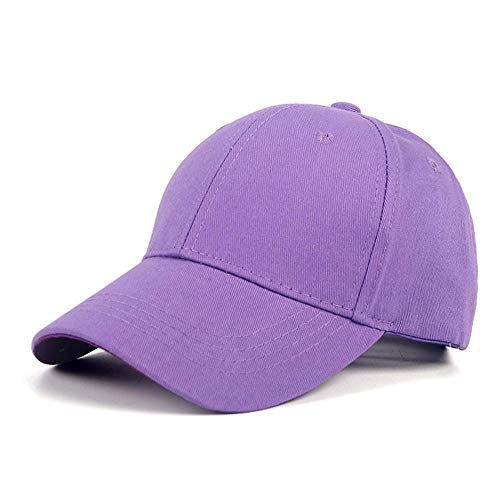 Cap Cotton Summer Snapback Baseball Cap Schwarze Hüte Für Jungen Baby Mädchen Kinder Kinder Männer Frauen Frauen Outdoor-Color15-Purple_Kid_52-54_cm