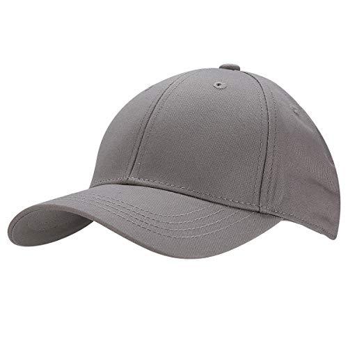KeepSa Baumwolle Baseball Cap, Basecap Unisex Baseball Kappen, Baseball Mützen für Draussen, Sport oder auf Reisen - Reine Farbe Baseboard Baseballkappe Kappe, Mütze (Dunkelgrau)