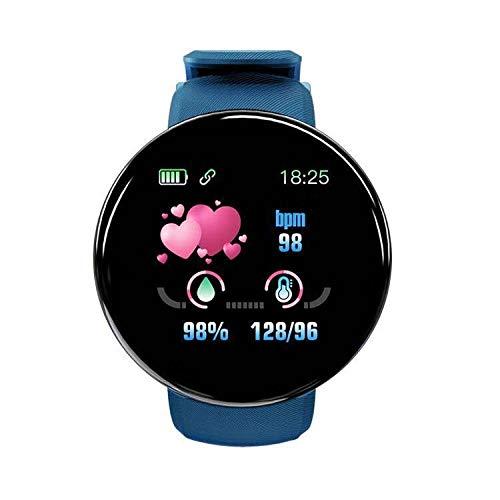 Yumanluo Smartwatch Impermeable,Pulsera Inteligente Impermeable para Hombres y Mujeres, monitoreo de Salud Deportiva-Azul,Monitores de Actividad,Fitness Tracker