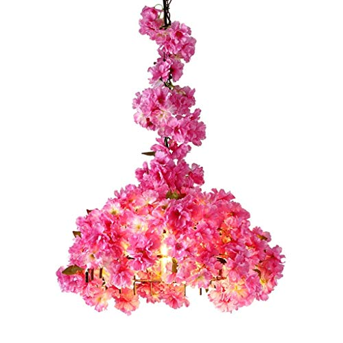 Bar Kronleuchter, Restaurant Blumengeschäft The Mall Club Kronleuchter Pink Iron Art Kronleuchter E27 Kettenlänge 250CM Innenbeleuchtung...