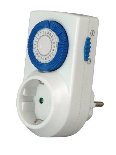 Kopp 195101098 Tages-Zeitschaltuhr elektromechanisch 230 V/ 50 Hz, 16 (2) A, max. 3.600 W